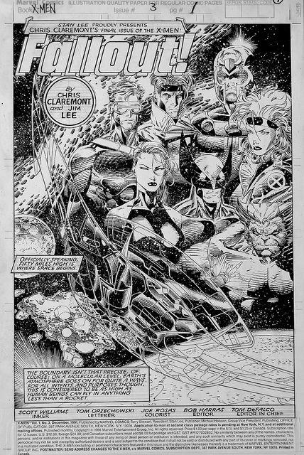 x-men claremont, jim lee - Marvel Comics #PipocaComBacon