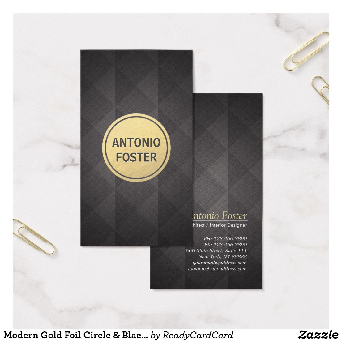Modern gold foil circle black diamond designer business card modern gold foil circle black diamond designer business card colourmoves