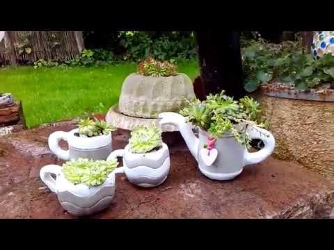 Beton Deko Kanne Zum Bepflanzen Youtube Garden