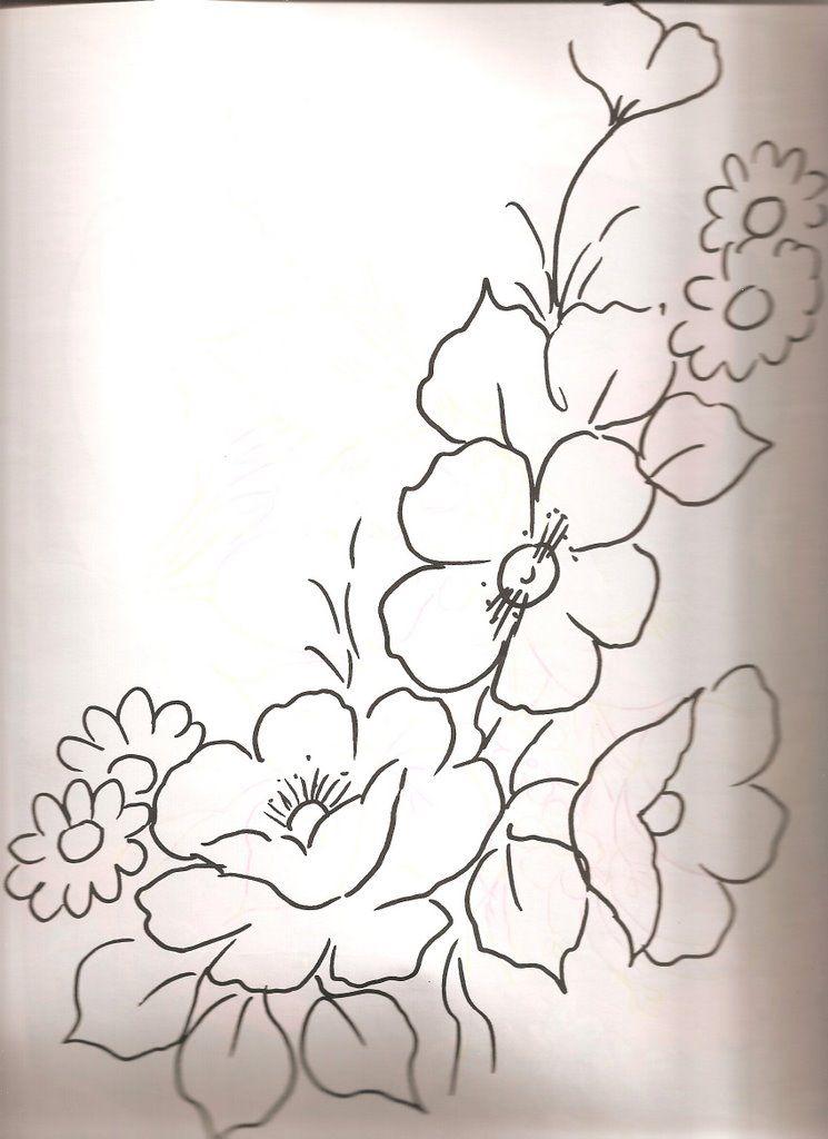 Resultado de imagen para dibujos de flores para bordar o pintar