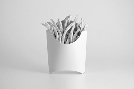 Brand Spirit - Branded Objects painted stark white by Andrew Miller. For 100 days he will paint an object white, removing its visual branding. Cool.