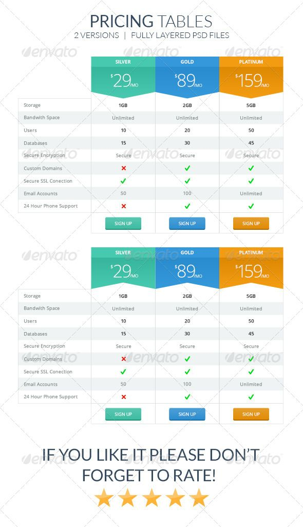 pin by best graphic design on pricing tables templates pinterest