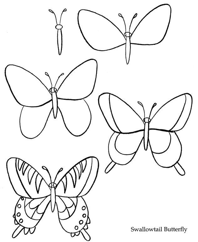 Comment dessiner un papillon dessin pinterest - Dessiner un papillon ...