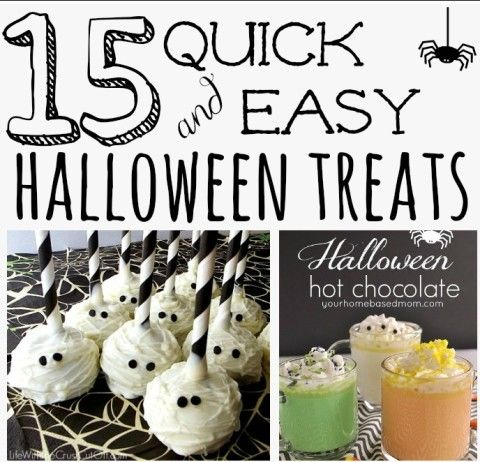The best part of Halloween is making yummy treats that go with the theme of the holiday. Check out these 15 quick and easy Halloween treats that you can make!