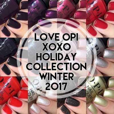 Nagelexperimente: Liebe OPI XOXO Holiday Winter 2017 Kollektion #design #designer   – Hairstyle trending