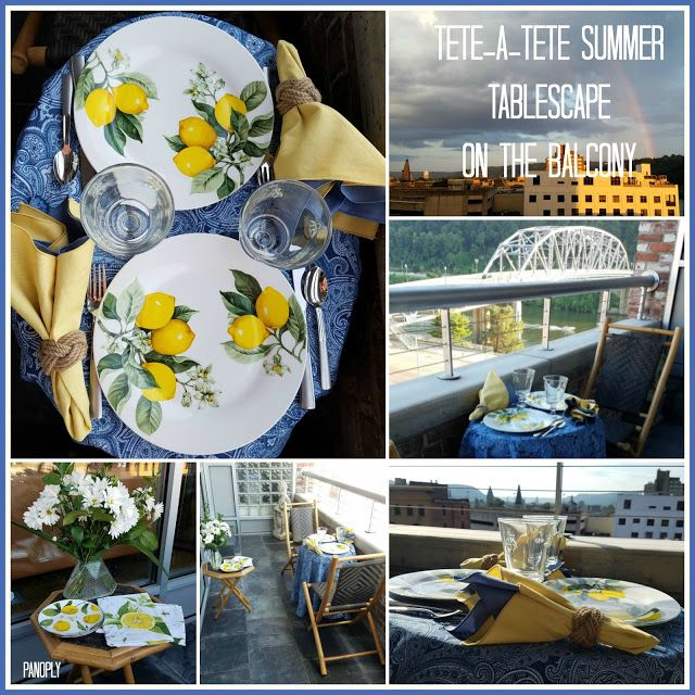 Panoply Tete A Tete Summer Tablescape On The Balcony