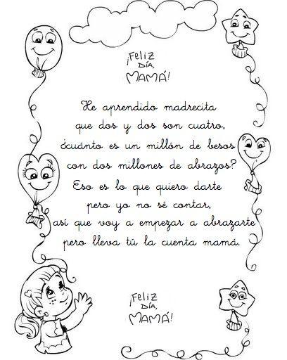 Poemas Canciones Para El Dia De La Madre Para Niños En Un Rincon De Mi Aula De Infantil Dia De La Madre Dia De Las
