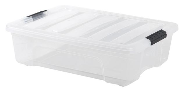 Iris Tb 42 Pull Stack Storage Box With Handle 16 1 2 X 11 X 6 1 2 Inches 12 9 Quarts Clear Black Storage Small Storage Storage Boxes