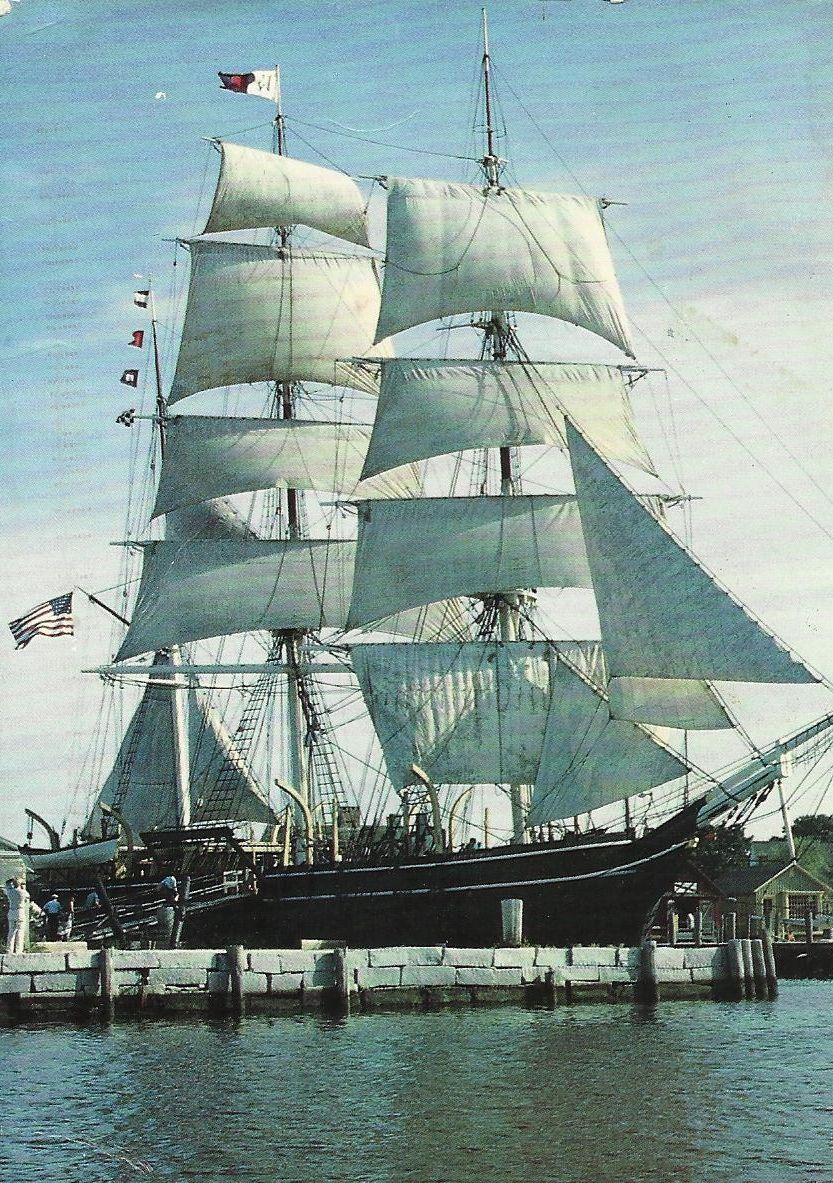The three-masted bark Charles W.