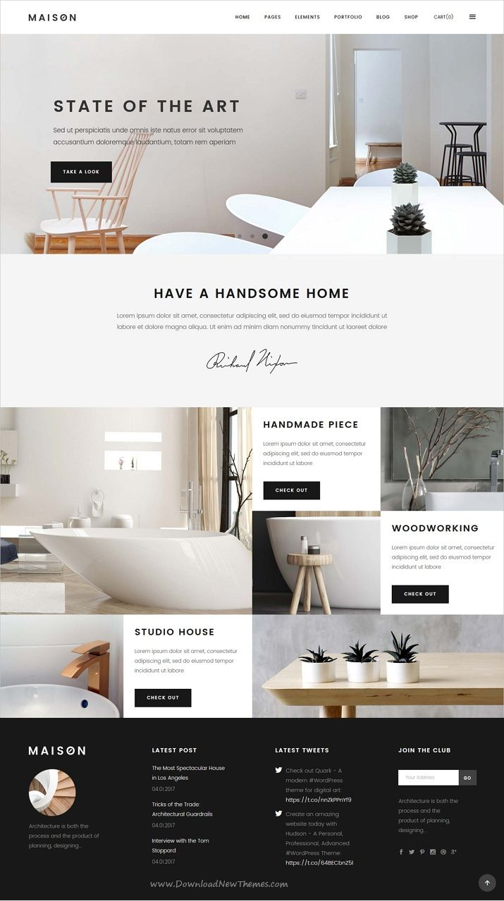 Maison Is Clean And Modern Design 12in1 Responsive #WordPress Theme For  #architect And #interior Designers Website Download Now U003e ...