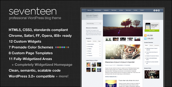 Review Seventeen WordPress Themeonline after you search a lot for ...