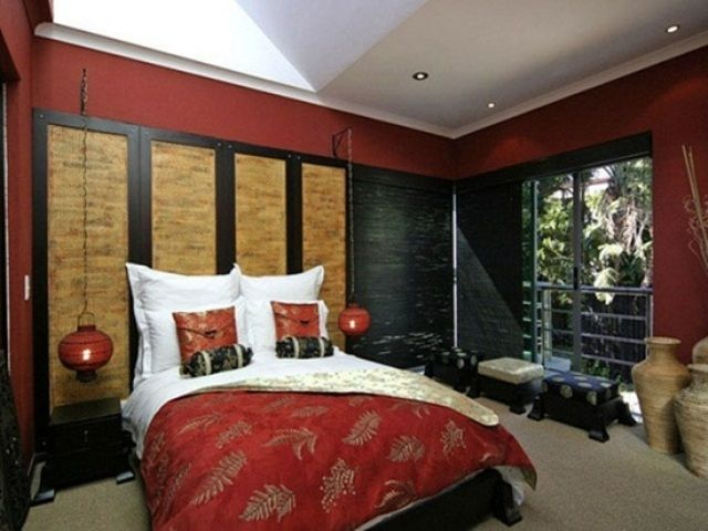 Asian bedroom decor