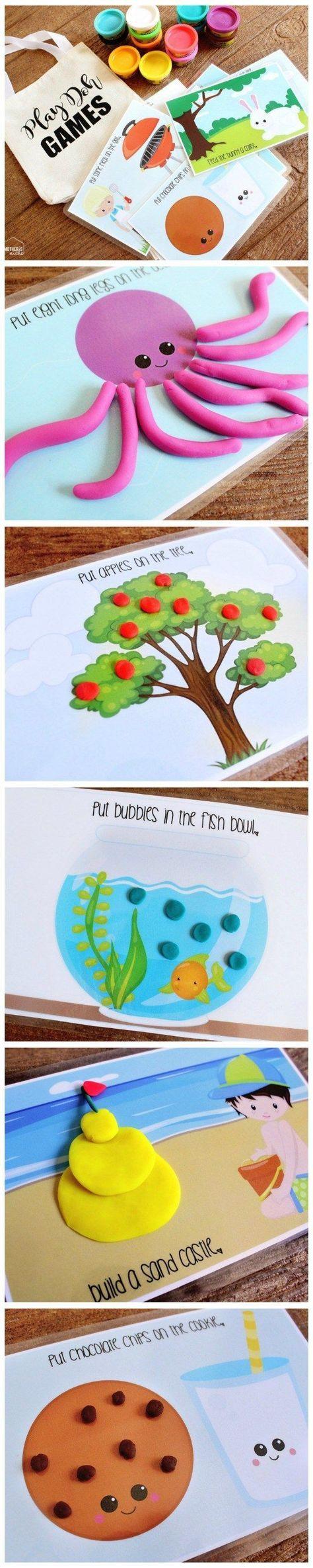 Play Dough Activity Mats Busy Bag: Printables!