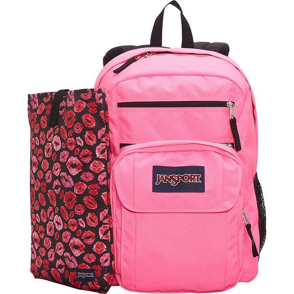 JanSport Digital Student Laptop Backpack ($43) ❤ liked on Polyvore featuring bags, backpacks, laptop backpacks, pink, detachable backpack, pink laptop bag, pink backpack, pink laptop backpack and padded backpack