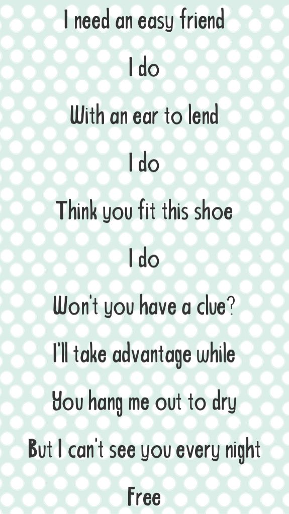 A girl song lyrics about 15 Songs