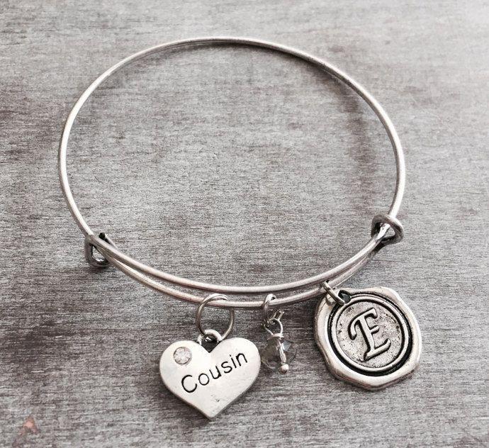 Cousin Bracelet Gift Bangle Silver Jewelry