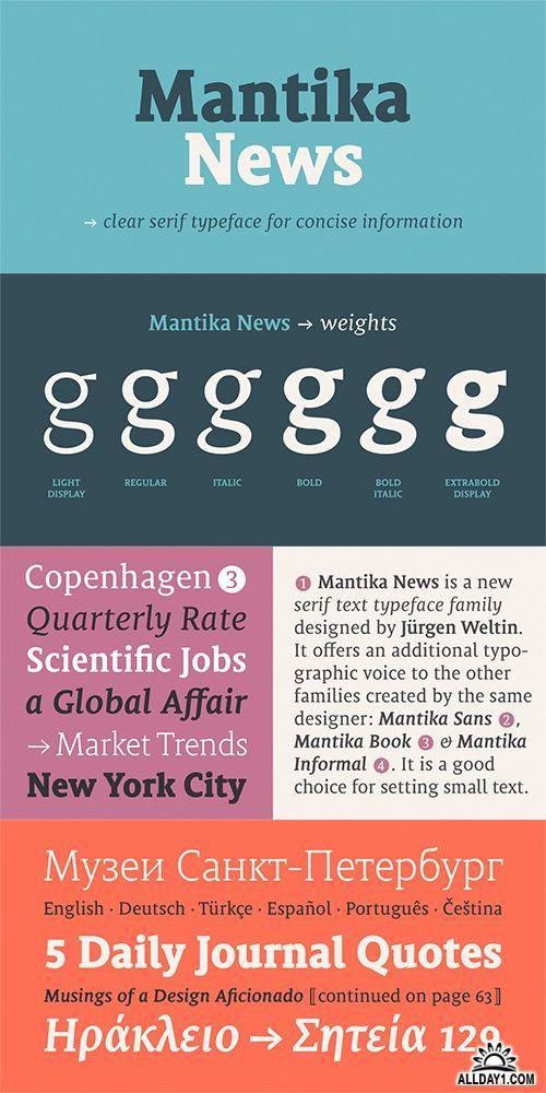 Mantika News font family