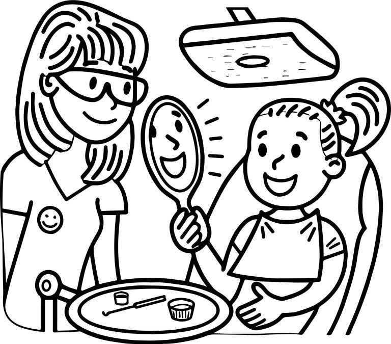 Tooth Coloring Pages Letter D Is For Dentist Coloring Page Free