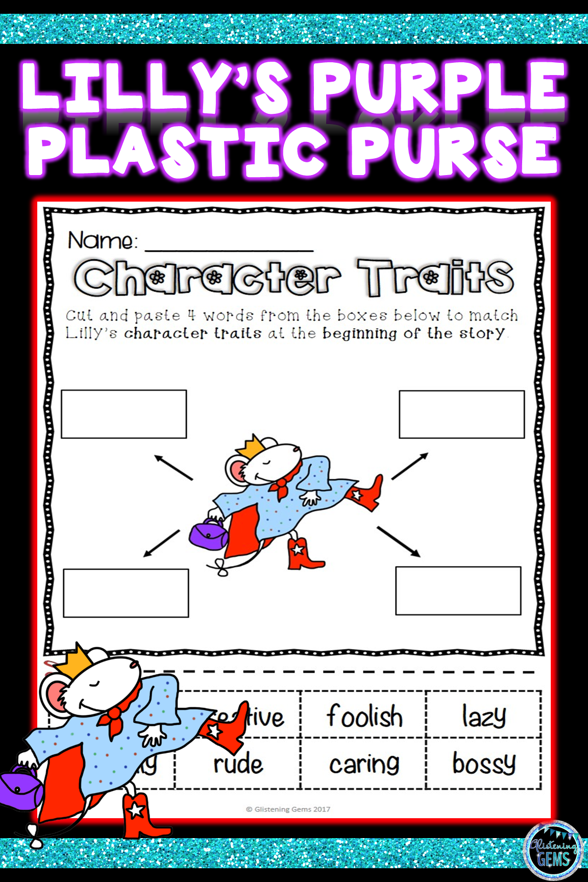 Lilly S Purple Plastic Purse Character Traits Activities