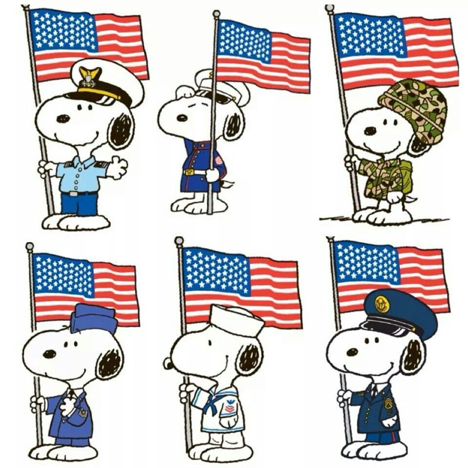 Salute To Our Armed Forces Snoopy Snoopy Snoopy Love Peanuts Gang