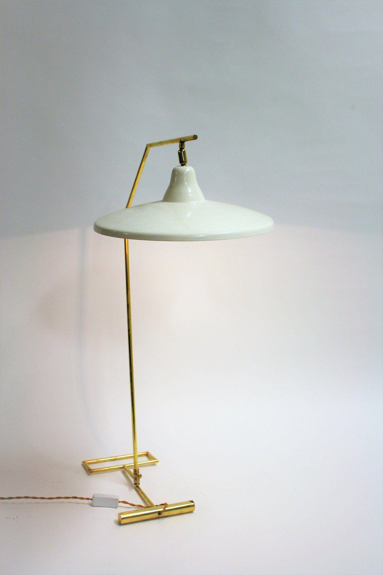 Vintage Italian Desk Lamp Or Floor Lamp 1950s Mid Century White Desk Lamps Italian Floor Lamp Desk Lamp
