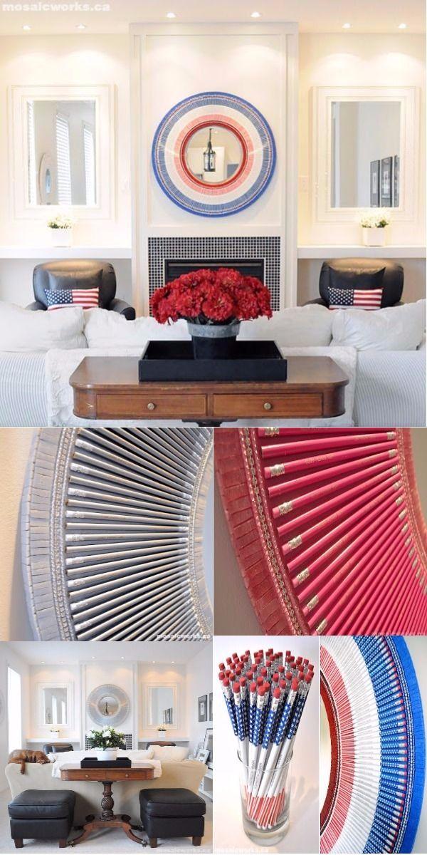 f3731c3de24 DOMINGO 3 DE FEBRERO DE 2013 ESPEJOS REALIZADOS CON LAPICEROS DE COLORE 1  15 Incredible DIY Mirror Frame Ideas To Make Your Home Creative