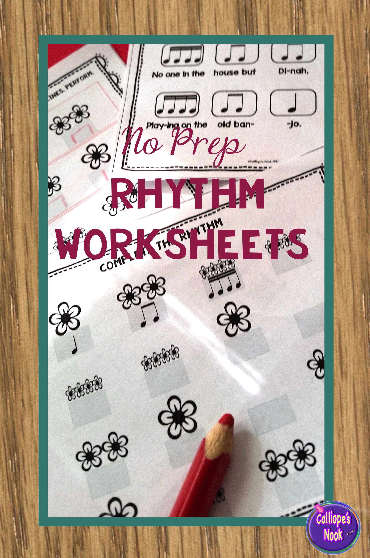 No Prep Rhythm Worksheets Sixteenth Note Ti Ka Ti Ka