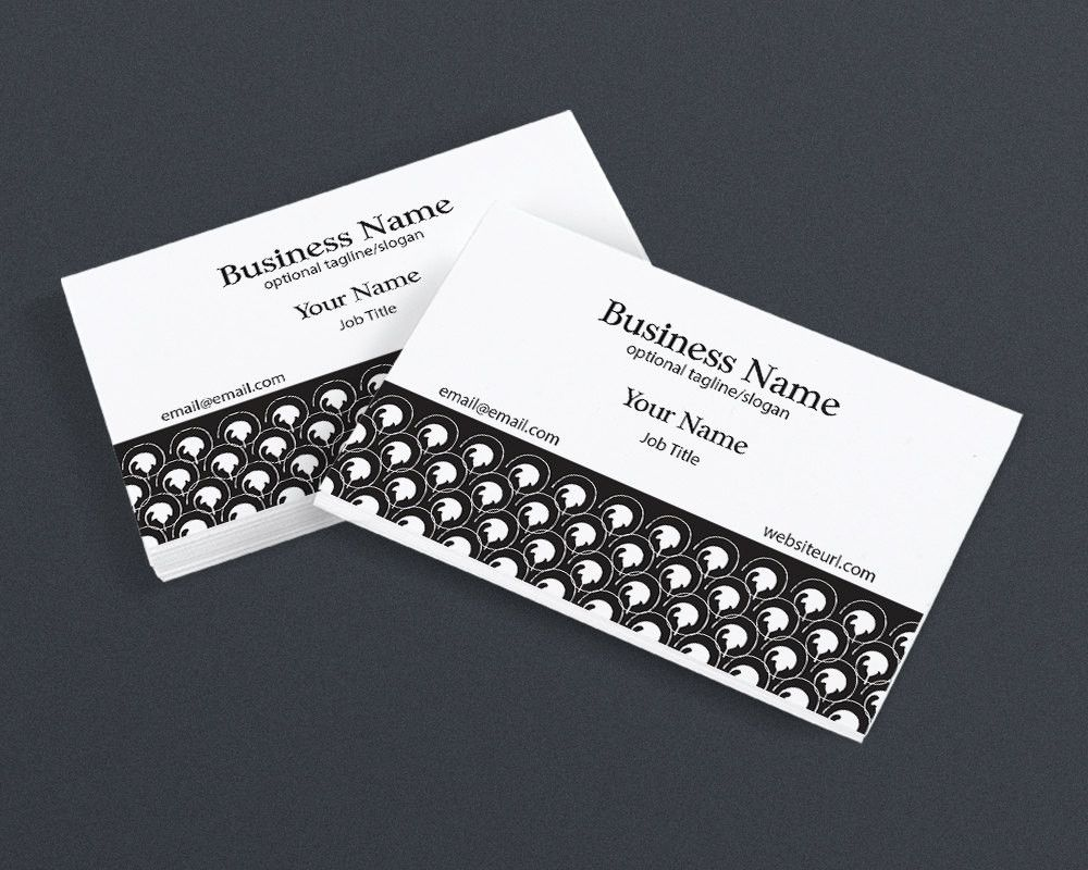 Business card design chic 2 black and white 4 printable business card design chic 2 black and white 4 printable business card magicingreecefo Gallery