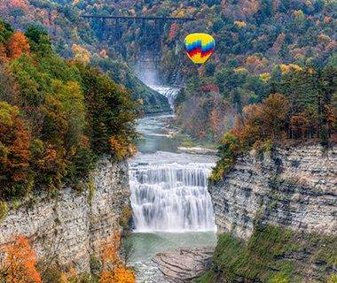 The Best Hot-air Balloon Rides #letchworthstatepark