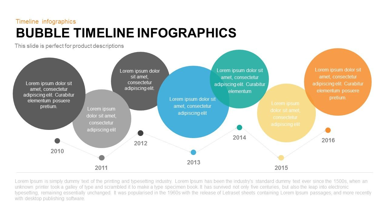 Bubble Timeline Infographics Powerpoint Keynote template | Timeline ...