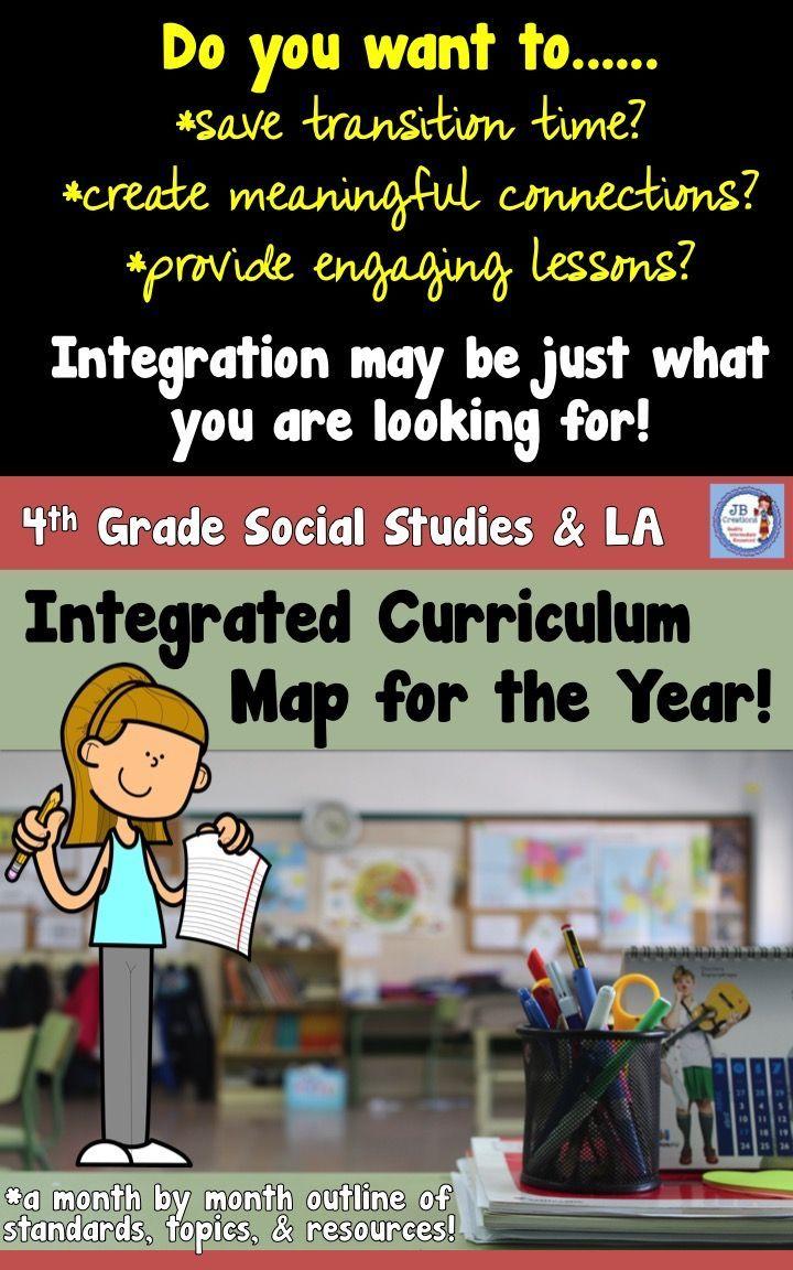 4th Grade Integrated Social Stu S And Language Arts Curriculum Map