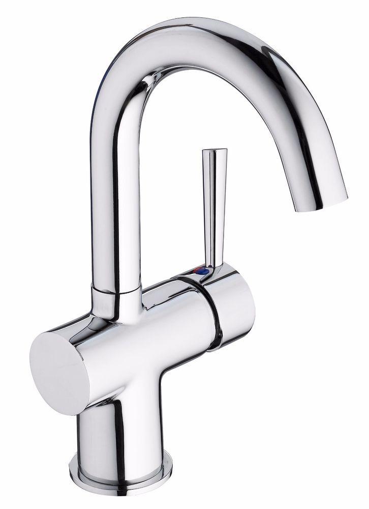 Badarmatur verchromt Waschtischarmatur Waschbeckenarmatur - wasserhahn küche weiß
