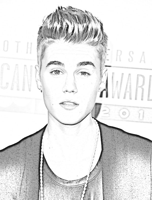 Justin Bieber Coloring Page | Printable Coloring Pages | craft ideas ...