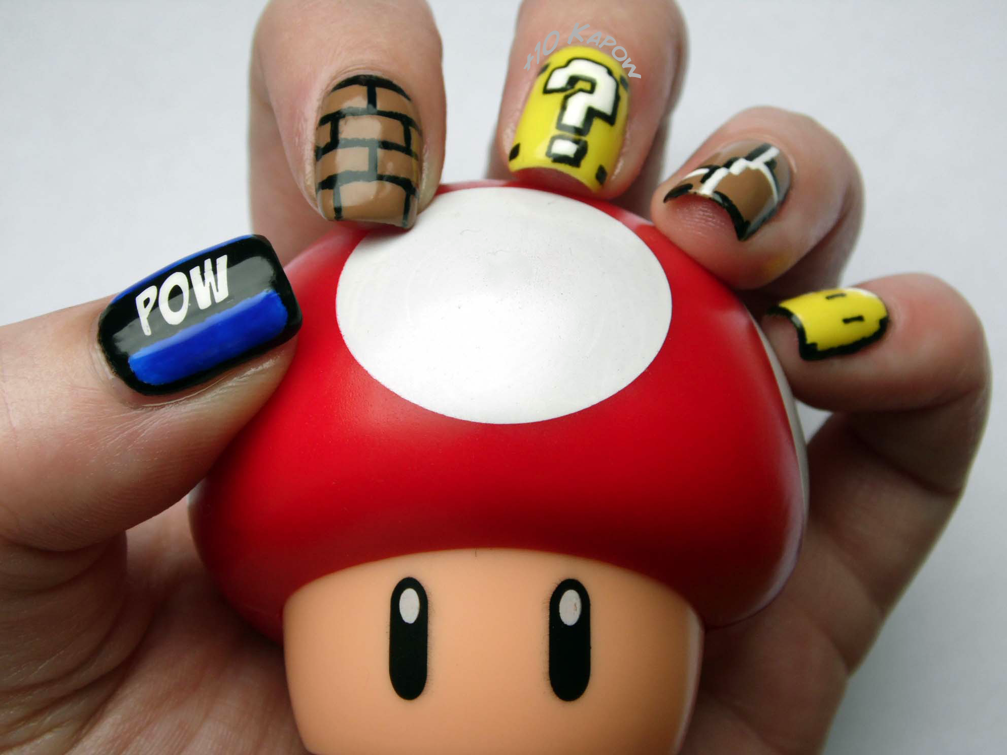 Super Mario Nails featuring some of the blocks from the games ...