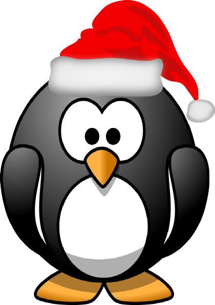 christmas penguin clipart black and white clipart panda free rh pinterest com
