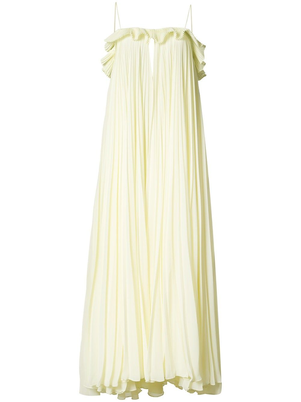 Adam lippes sleeveless pleated chiffon gown adamlippes cloth