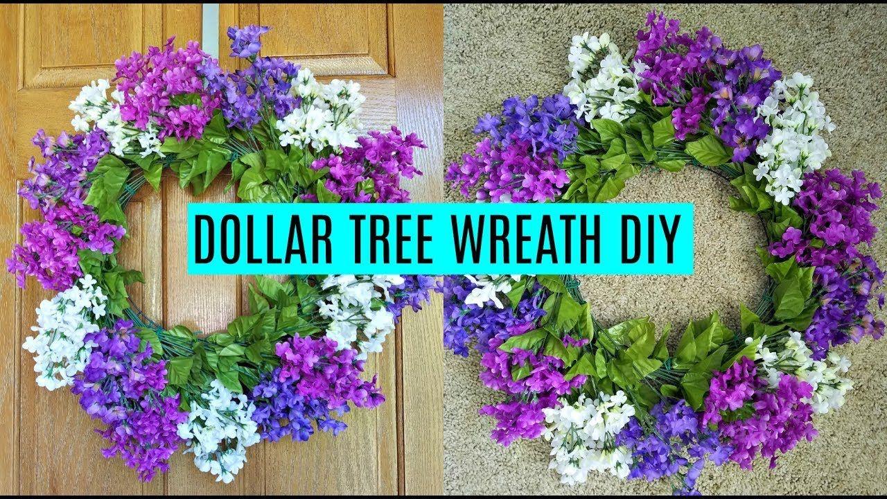 Dollar Tree Wreath DIY YouTube Diy wreath, Wreaths