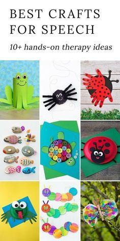 Easy and Fun Speech Crafts for Kids | SLP - Activities ...