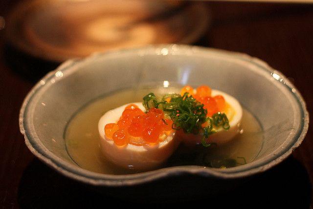 半熟たまご (Half raw egg w/ikura)