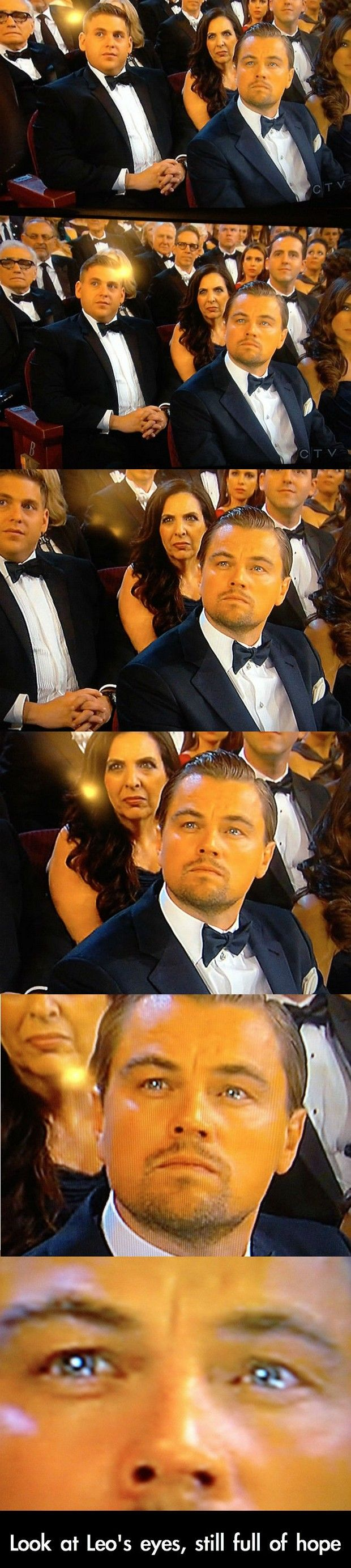 Awww.. Leo, I will give you your Oscar. If it's the last thing I do. the lady behind him though