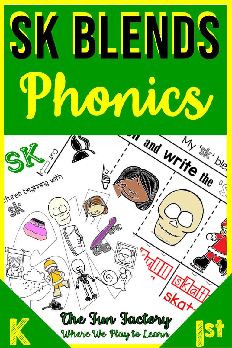Phonics Blends Sk No Prep Phonics Blends Phonics Blends Worksheets [ 1152 x 768 Pixel ]