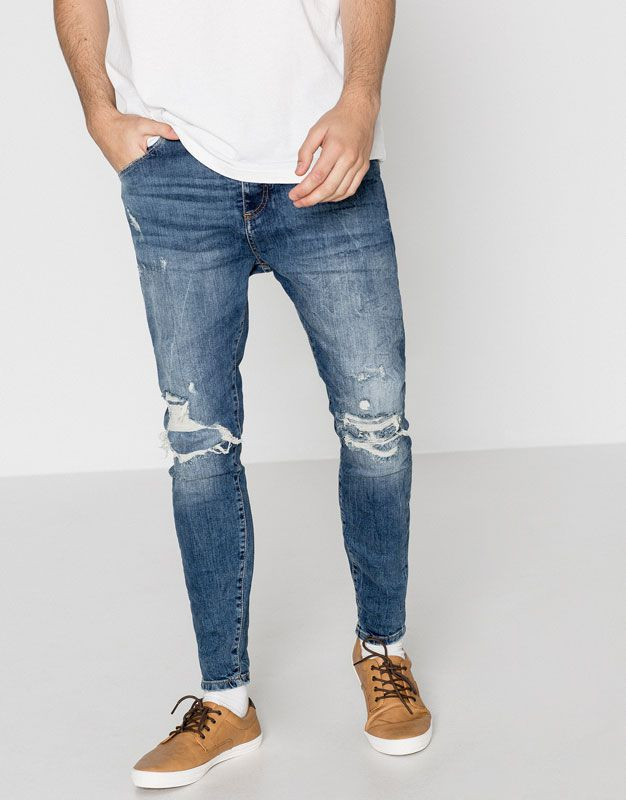 852f2fa541 Jeans carrot fit - Jeans - Ropa - Hombre - PULL BEAR España