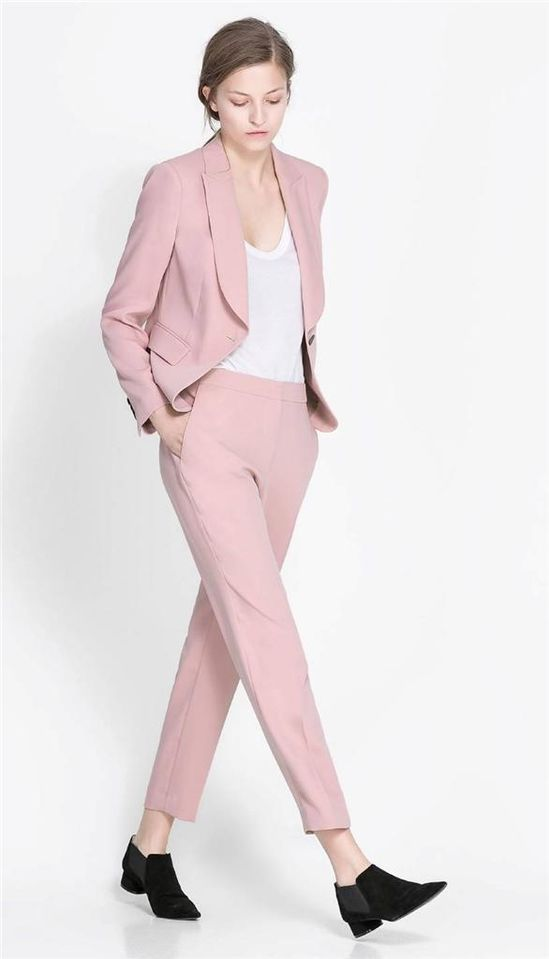 Pink Pant Suits For Ladies