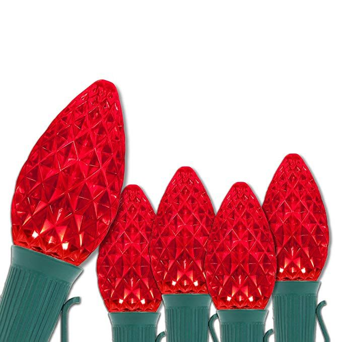 C7 OptiCore Red Outdoor Christmas Lights - LED Christmas String