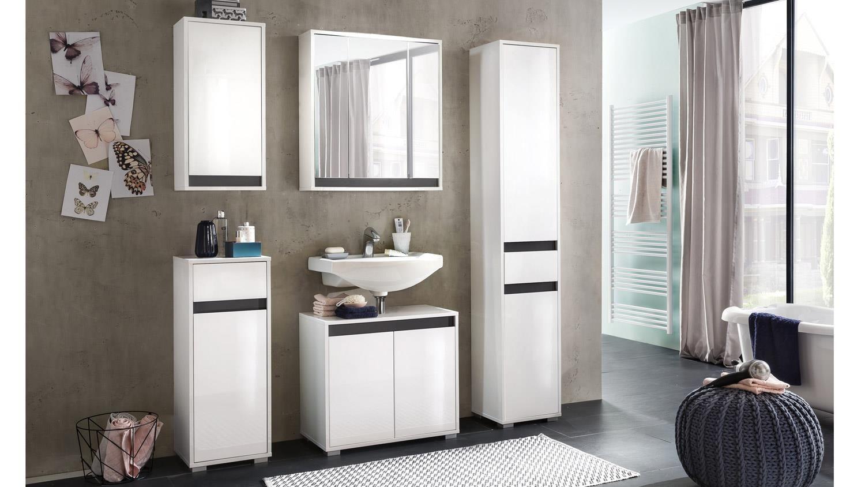 Ideal Badezimmer SOL Badm bel Set in wei Melamin Hochglanz