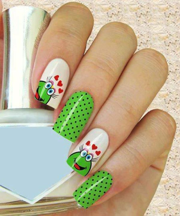 Nageldesign Muster - wie Sie Fingernägel Designs selber machen - lustige bilder selber machen