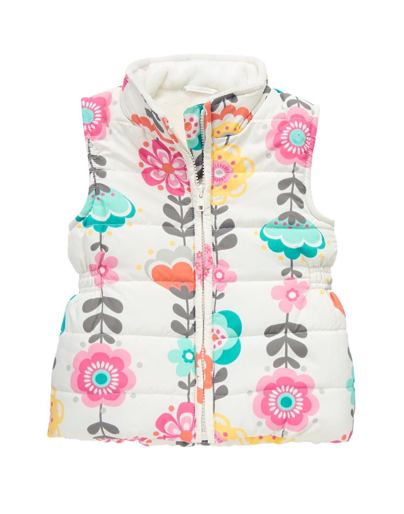 Gymboree Girls Zip Front Vest