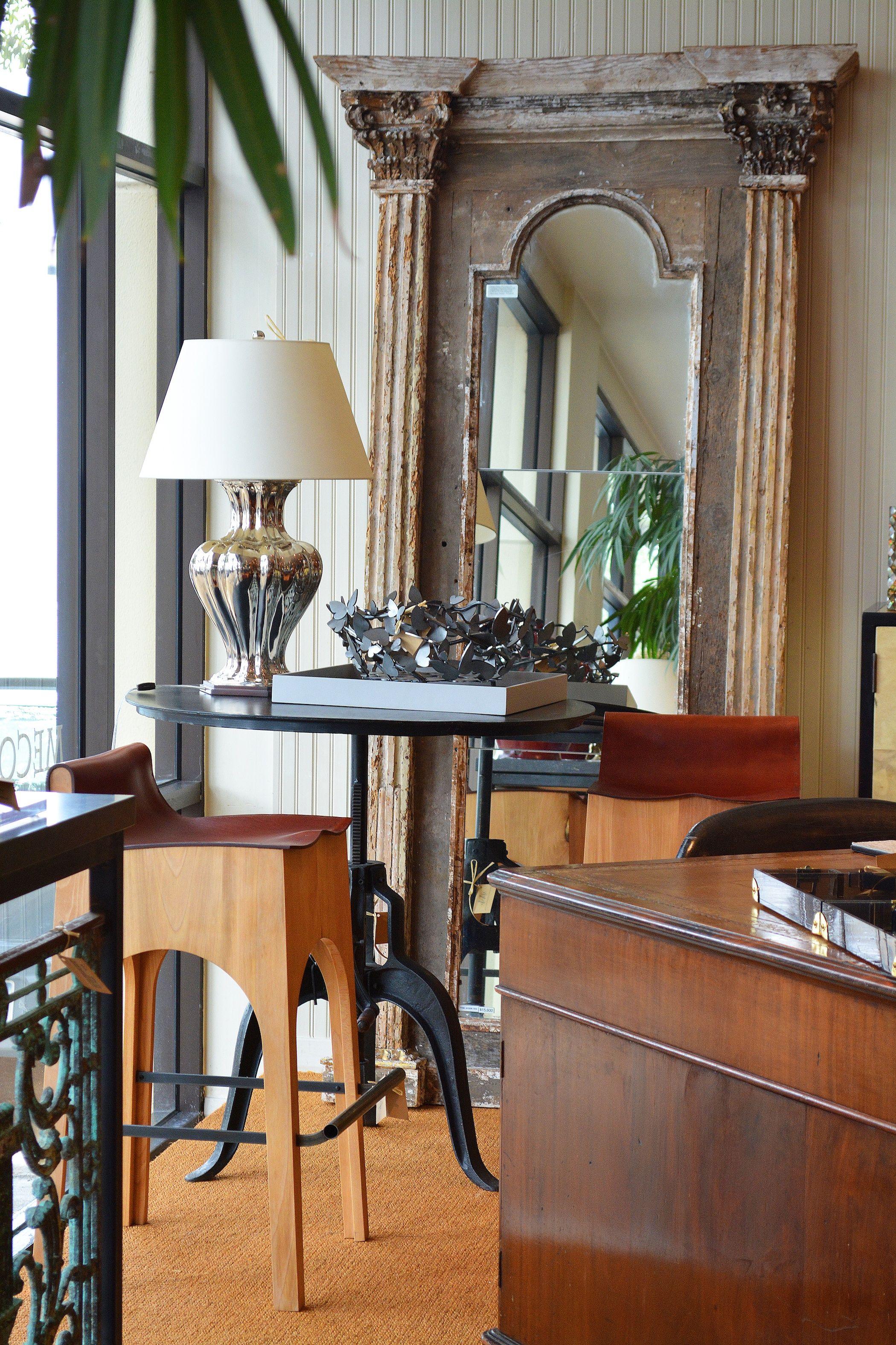 Antique Italian corinthian #column full length #mirror at #Dallas ...