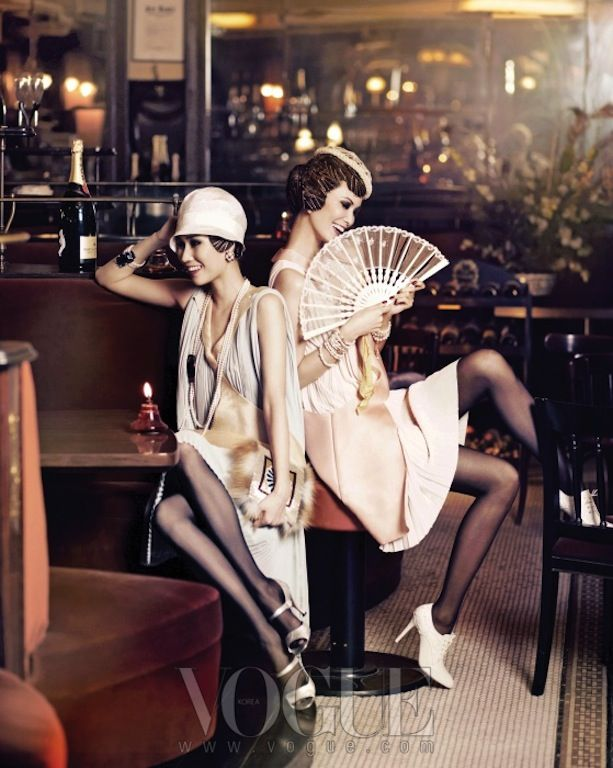 """""""Good Time Girls"""": Flappers by Hong Jang Hyun for Vogue Korea"""