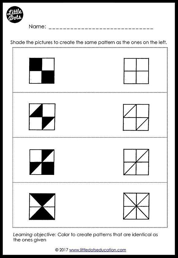 Preschool Patterns Matching Worksheets And Activities Pattern Worksheets For Kindergarten Preschool Math Printables Pattern Worksheet